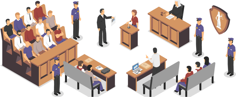 Court Room Depiction